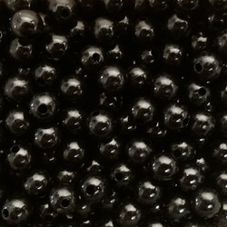 Black Plastic Beads
