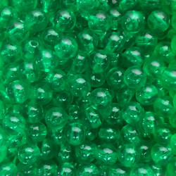 Green Clear Plastic Beads