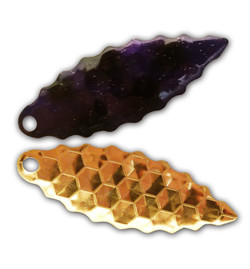 Purple Passion Gold Serrated Willow Blade