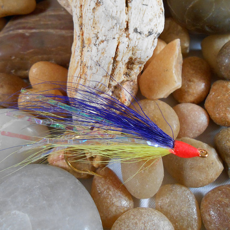 chartreuse and purple river fly