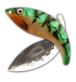 Gold/Green/Mandarin Nickel Hex Whip Tail Blade