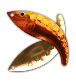 Mandarin Gold Hex Whip Tail Blade