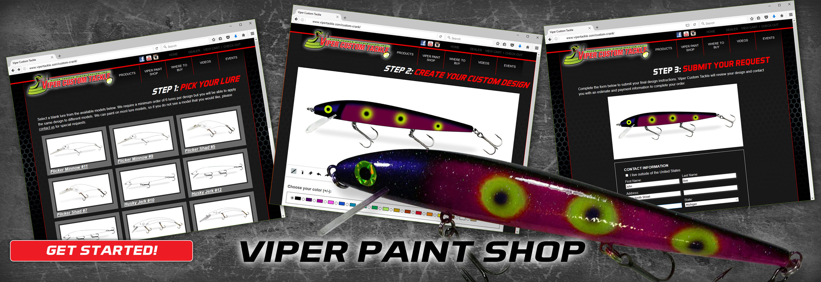 Viper Paint Shop - Create Your Own Custom Cranks!